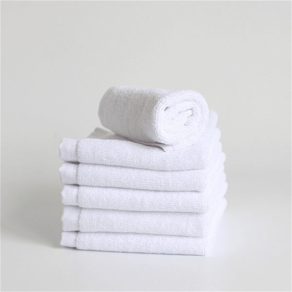 Soft White Face Towel Small Hand Towels Kitchen Towel Kindergarten Cotton Towel