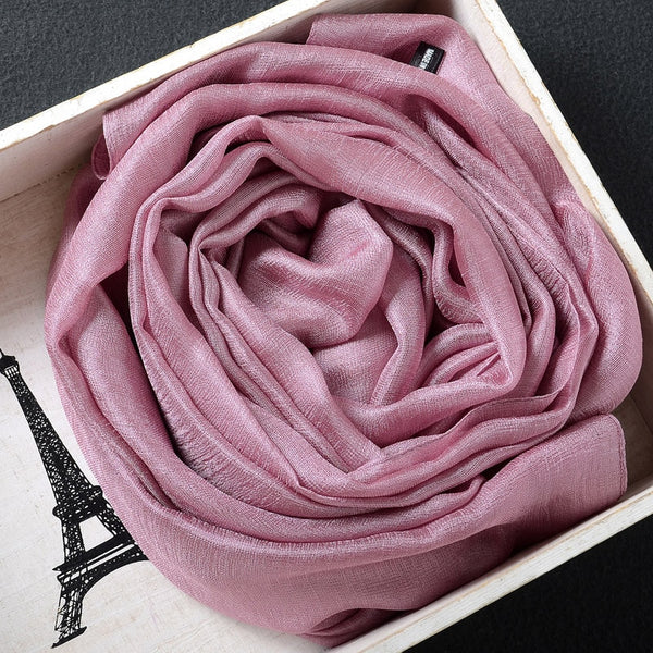 Pure silk cotton scarves shawls head cover women gilrs
