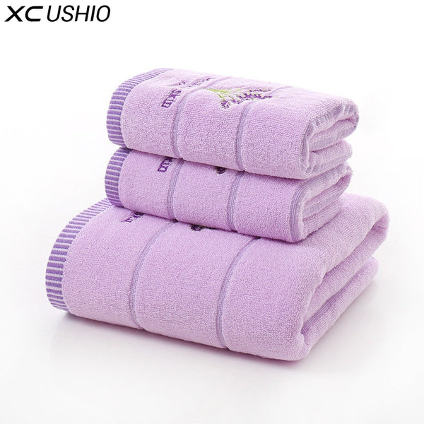 100% Cotton Lavender Towel Set for family