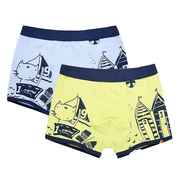 Children's Teenager organic cotton Underwear Boys Stripes Kids Underwear 2-16y