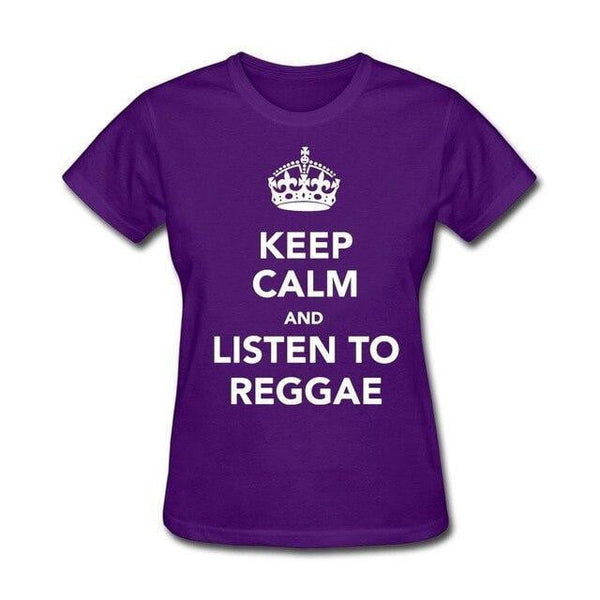 Keep Calm And Listen To Reggae Women Tee Organic Cotton - Mimi's Eco Fashions