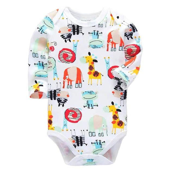 Newborn Bodysuit Baby Clothes Cotton Body Long Sleeve Underwear Infant Boys Girls Clothing Sets - Mimi's Eco Fashions