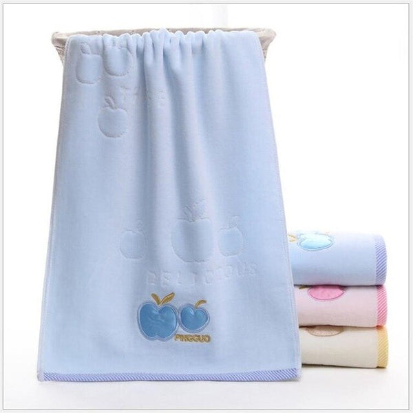 Combed cotton baby towel cartoon style newborn washcloth handkerchief kids cloth towel
