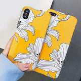 Glossy Yellow Lilies iPhone Case