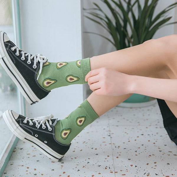 Kawaii Fruits Cute Women's Mid Socks