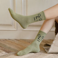 Funny Faces Colorful Women's Mid Socks