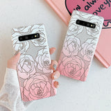 Gold & Pink Roses Samsung Galaxy Case
