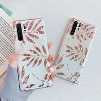 Gold Leaves Huawei Case