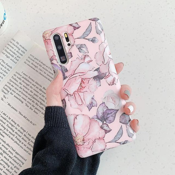 Flowers Pattern Huawei Case