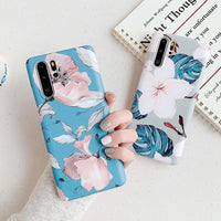 Pink & White Flowers Huawei Case