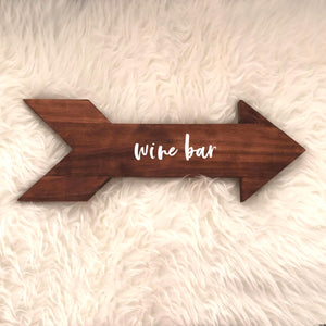 Rustic Word Arrows