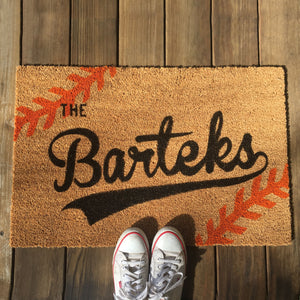Baseball Themed Doormat