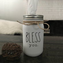 Bless You Tissue Jar - White