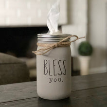 Bless You Tissue Jar - Taupe