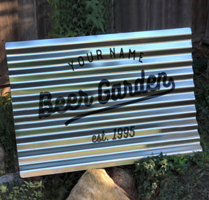 Corrugated Metal Yard Sign
