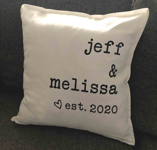 Personalized Couples Name Pillow