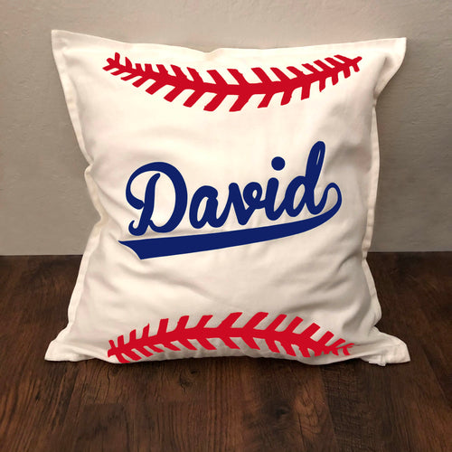 Personalized Baseball Name Pillow