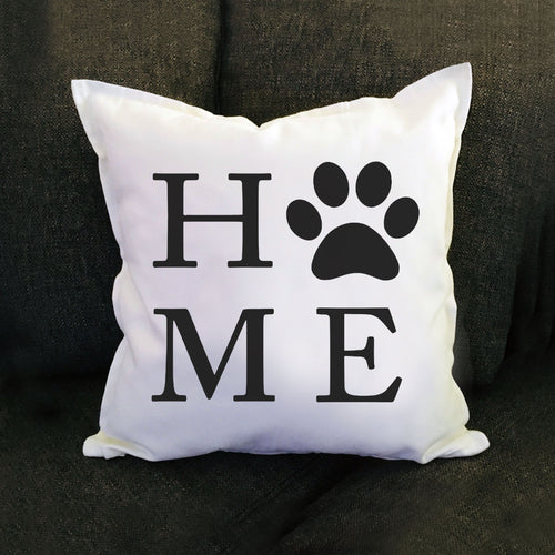 HOME Paw Print Pillow