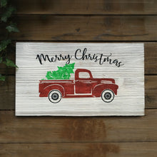 Merry Christmas Vintage Red Truck Sign