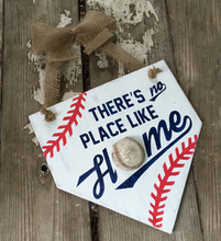 No Place Like Home Baseball Sign