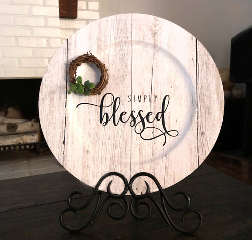 Simply Blessed Plate