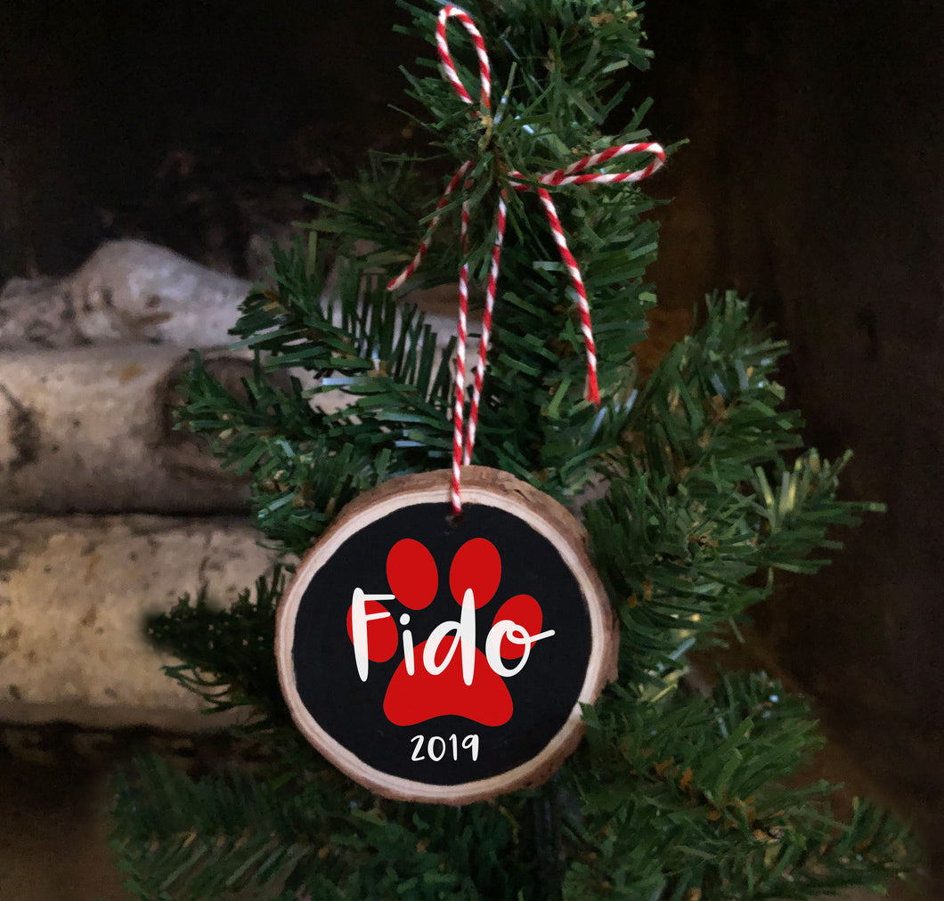 Personalized Pet Wood Slice Ornament