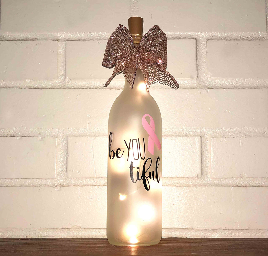 BeYOUtiful Lighted Wine Bottle