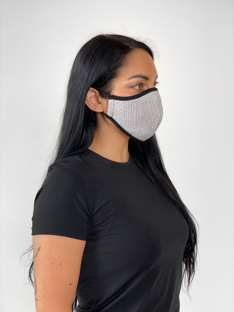 GRAY GEO - FACE MASK