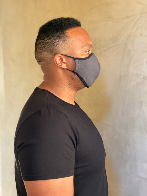 SLATE GRAY - T-SHIRT FACE MASK