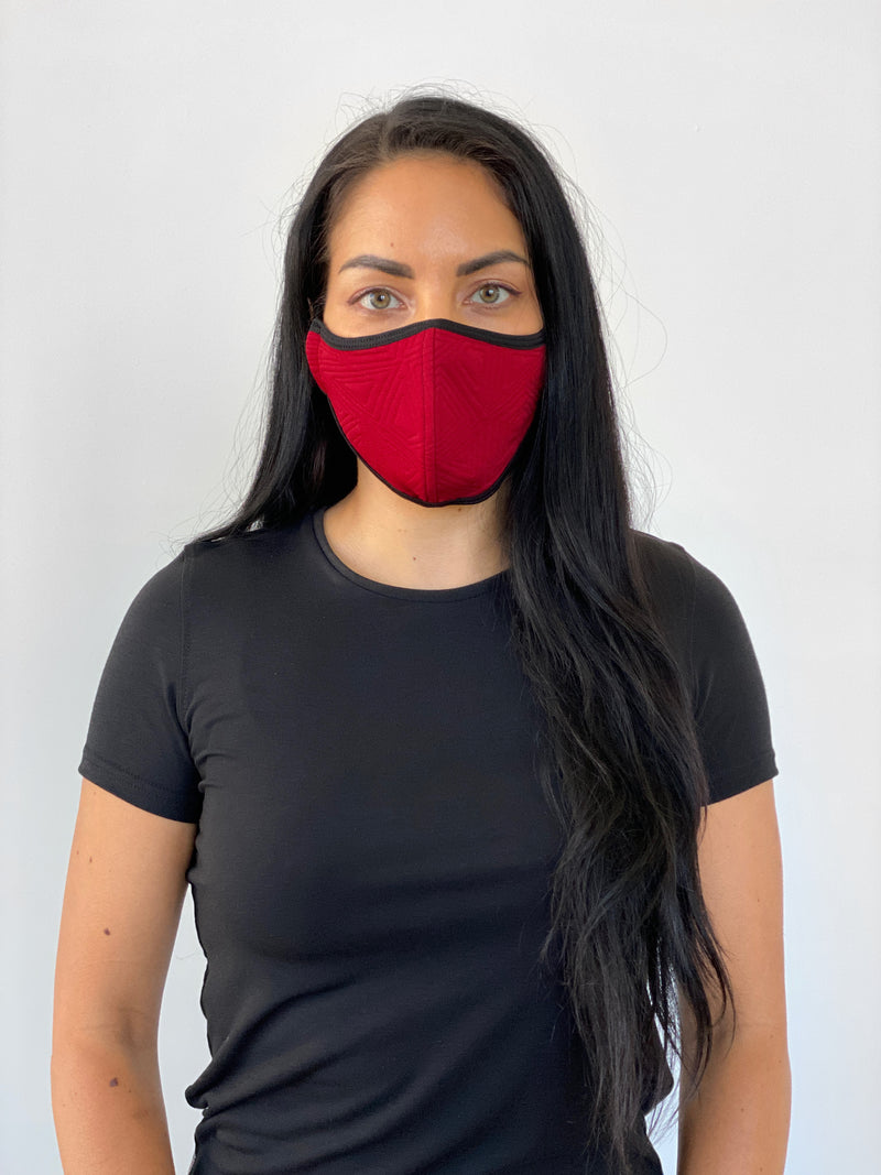SANGRIA RED GEO - FACE MASK