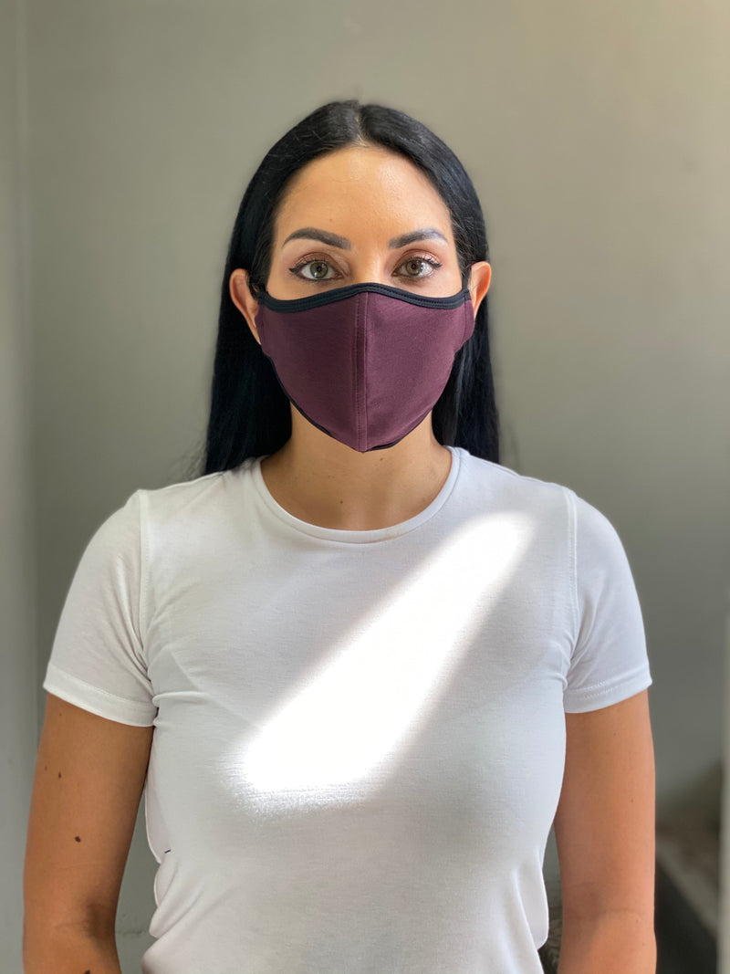 MAROON - T-SHIRT FACE MASK