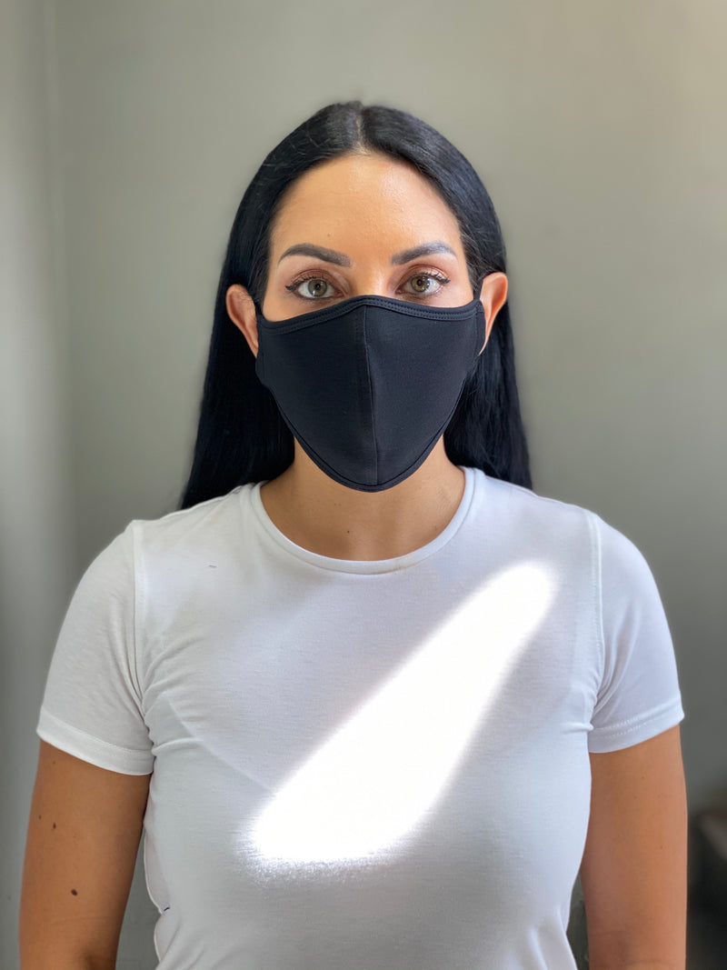 MATTE BLACK - T-SHIRT FACE MASK