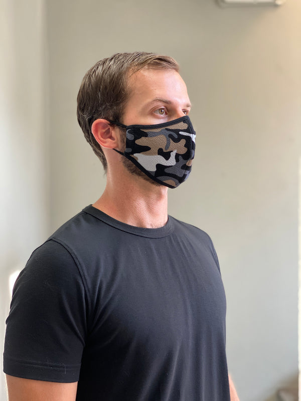 BLUE CAMO - FACE MASK