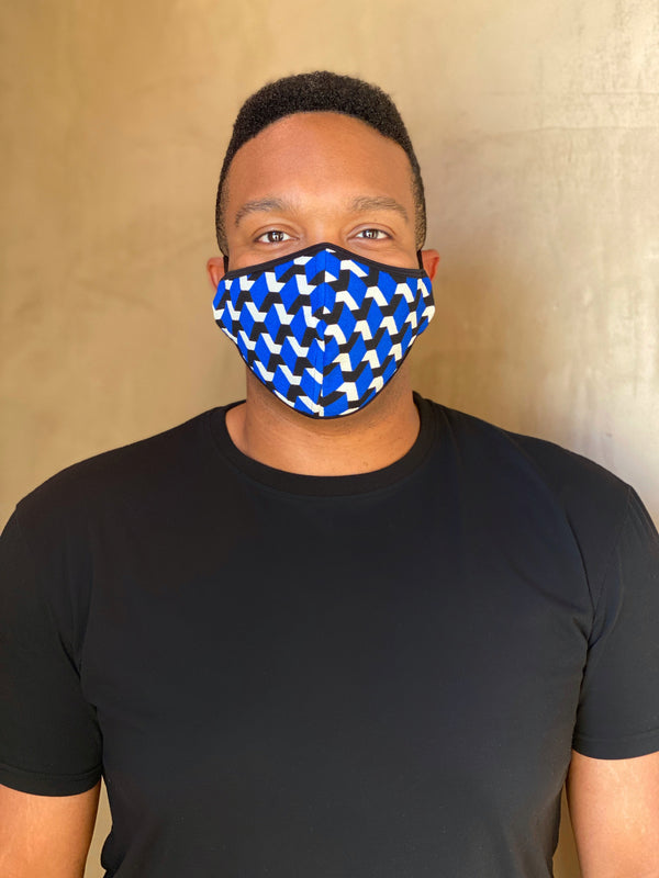 BLUE GEO - FACE MASK