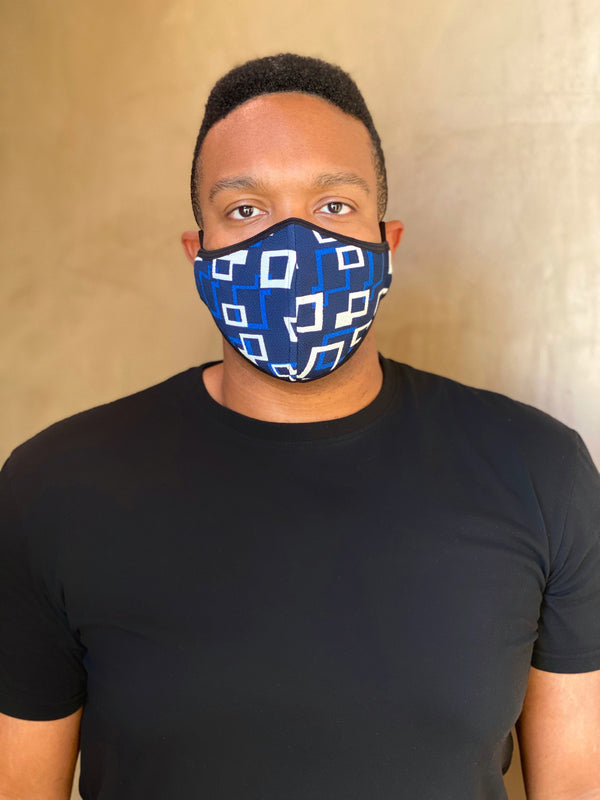 BLUE SHAPES - FACE MASK