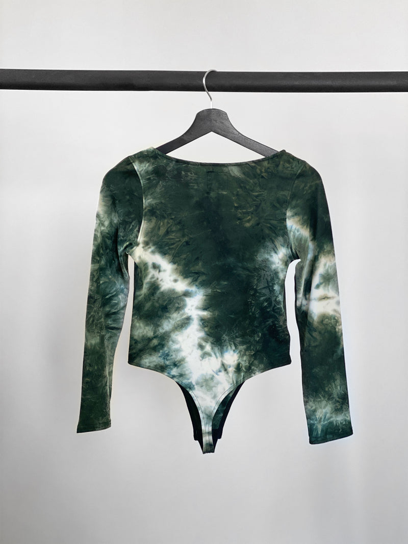 HUNTER TIE DYE - WOMENS LONG SLEEVE BODYSUIT
