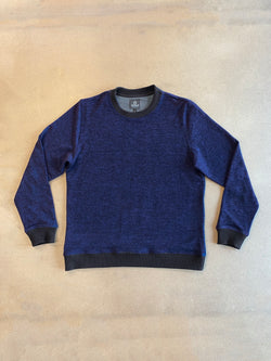 MIDNIGHT BLUE - MENS CREW NECK SWEATER