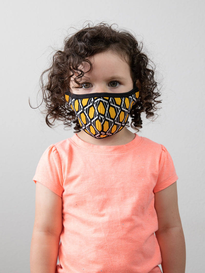 HONEY COMB - KID FACE MASK (KID SIZE ONLY)