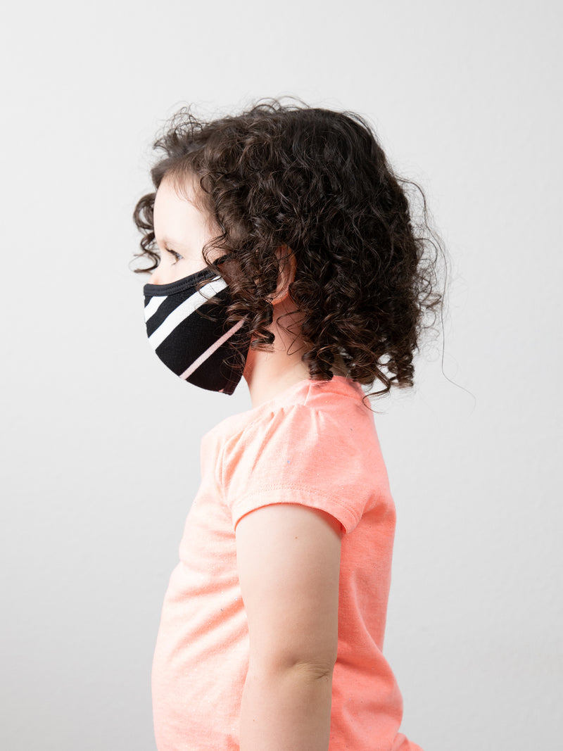 MATTE STRIPE - KID FACE MASK (KID SIZE ONLY)