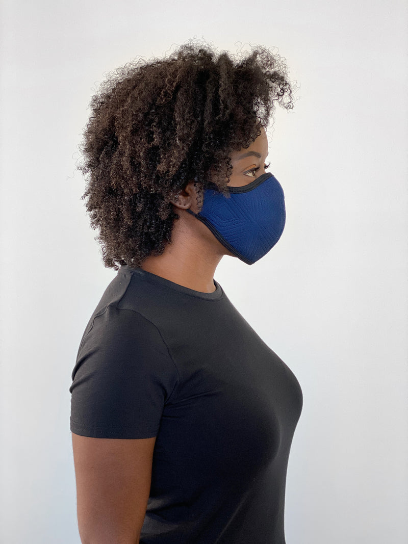 ROYAL BLUE GEO - FACE MASK