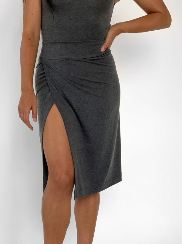 HEATHERED GRAY - WOMENS EVERYDAY SKIRT