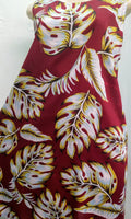 Ladies Noelani A-Line Tank Dress - Waving Palm - Burgundy
