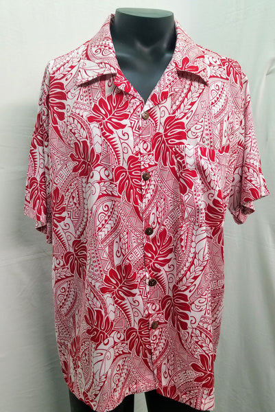 Men's Aloha Shirt - Tribal Vibe - Red