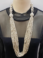 Beaded Necklace - Athena - Beige