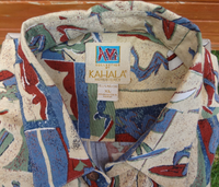 Vintage Avi Kiriaty Kahala Artist Series Men's Aloha Shirt  -  Extra Large Only