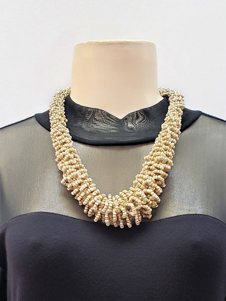 Beaded Necklace - Gaia - Beige
