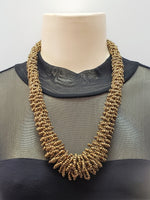 Beaded Necklace - Gaia - Gold
