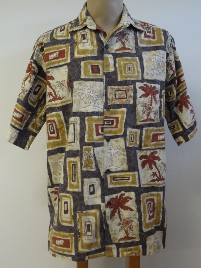 Vintage Go Barefoot  Men's Aloha Shirt  -  Large Only