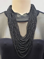 Beaded Necklace - Hera - Black