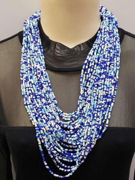 Beaded Necklace - Hera - Blue Multi